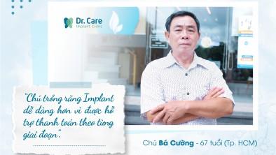 Gạt bỏ nỗi lo chi phí trồng răng Implant với chính sách thanh toán theo giai đoạn của Dr. Care