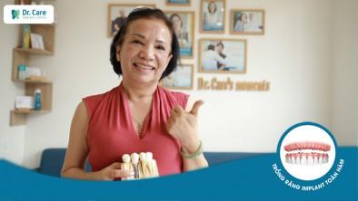"""Cô Kim Liên: """"Bệnh cao huyết áp của cô được kiểm soát hoàn toàn khi trồng răng Implant tại Dr. Care"""""""